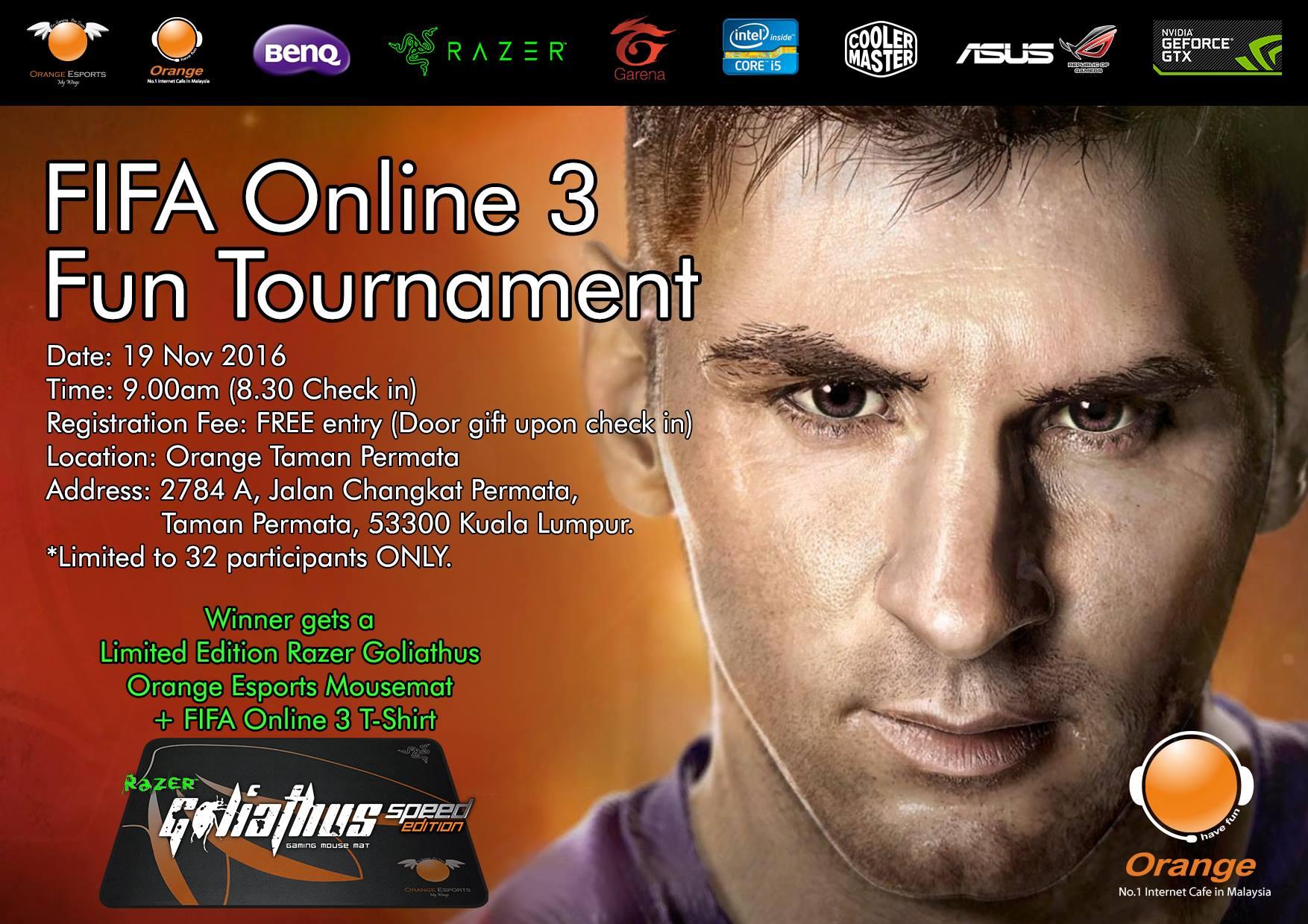 Orange Esports Cafe Registrasi Tournament  Fifa 3 Indonesia Ois Logo